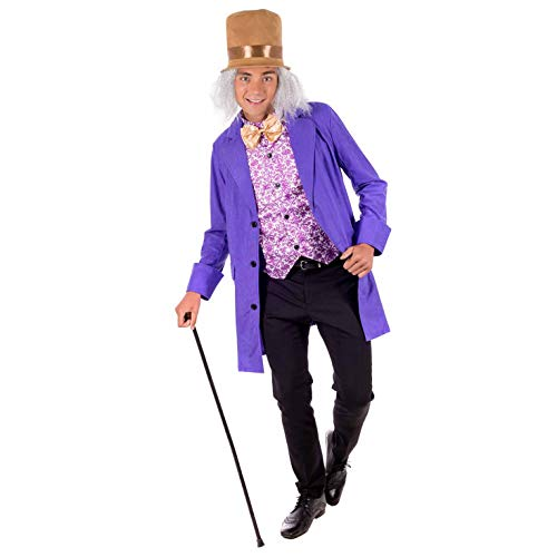 Fun Shack FN2770L kostuum, Heren Willy Wonka Suit, Groot