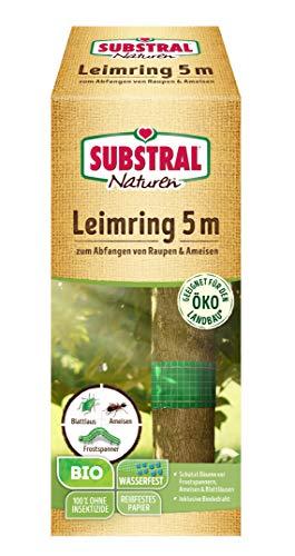 Substral 7823 Naturen Bio Leimring, Raupenleimring inkl. Bindedraht,gegenRaupen,AmeisenundandereSchadinsekten,5m