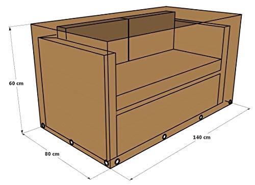 GREEN CLUB Housse De Protection pour canapé 2 Places Haute Qualité Polyester L 140 x l 80 x h 60 cm Couleur Beige