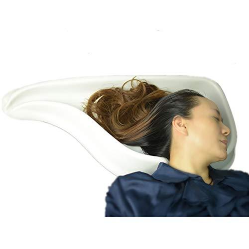 ATSALON Portable Cheveux Bacs pour Shampooing Plateau Cheveux Lavage Lavabo Bol Cou Repos Lit Cheveux Couper et Coloration pour Désactivé Enceinte Femmes Personne âgée Enfant 28,3 x 14,7 Pouces