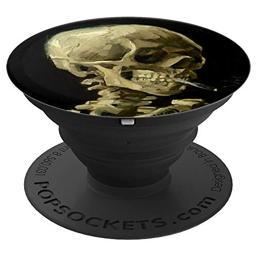 Vincent Van Gogh Smoking Skull PopSockets Grip and Stand for Phones and Tablets