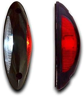 10/x Ambre Orange 24/V c/ôt/é Outline Feux de gabarit 4/LED avec Brakets socle basculant pour ch/âssis de remorque Camion caravane