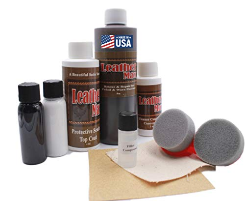 Furniture Leather Max MEGA Kit/Leather Restorer / 8 Oz Refinish 2 Oz Conditioner...