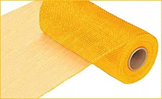 Two Tone Deco Poly Mesh Ribbon - 10 Inches x 10 Yards (Yellow Gold, Yellow Gold)