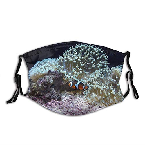 Underwater Fantasea Ocean-Face Cover Washable Reusable, Balaclava with Filters, for Men Women Adult Teens