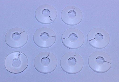 Preisvergleich Produktbild Heizkörper Klapprosetten,  weiß,  28mm 10 Stück
