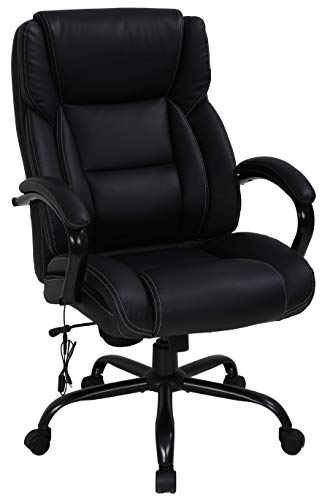 Big & Tall Heavy Duty Executive Chair 500 Lbs Heavyweight Rated Black PU Leather...
