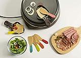 Pebbly NBA021 Set de 6 spatules à raclette-Multico, Multicolore, 13 cm
