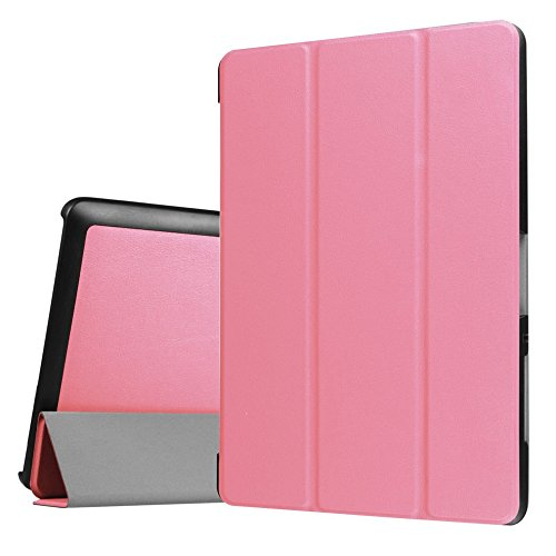 Tasche für Acer Iconia One Tab 10 B3-A30/A3-A40 10.1 Zoll Schutz Hülle Flip Tablet Cover Hülle (Rosa) Neu