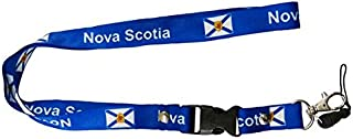 NOVA SCOTIA Canada Provincial Flag Lanyard Keychain Passholder .. 24 Inches Long.. High Quality .. New