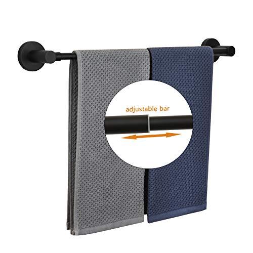 CCKOLE Handtuchhalter handtuchstange handtuchring Wandmontage 304 Edelstahl Badetuchhalter Bad handtucher Badetuchstange (Schwarz)