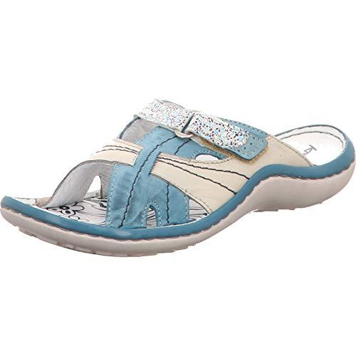 KRISBUT Damen Pantoletten Pantolette in Blau-Grau 7003-3 blau 588465