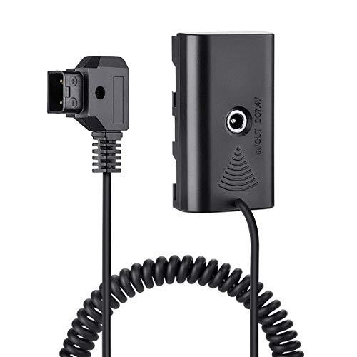 Fomito NP-F970 F750 F550 dummy-batteri med DC 7,4 V till D-TAP för V-montering BP batteri, kameraskärm nyare F100 FEELWORLD FW568, LED-lampa CN160 CN216 YN300 II YN-600 W260, för Sony videokamera