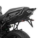 Kennzeichenhalter KAWASAKI 650 Versys Bj. 15-18 verstellbar schwarz inkl. Reflektorhalter Motorrad...