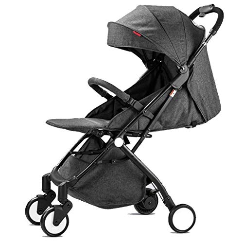 Buy ZXCVB Compact Lightweight Baby Stroller, Infant Prams for All Terrain, with 5-Point Harness (Col...