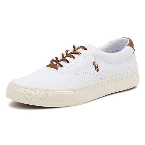 Ralph Lauren Polo Sneakers Uomo Bianche, 41, Bianco