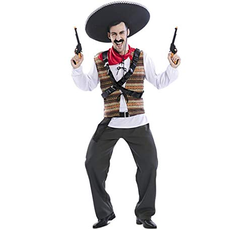 EUROCARNAVALES Disfraz de Mejicano Pancho para Hombre