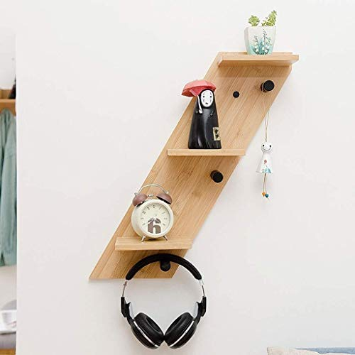 HLZ Floating Shelves Wall Mounted Floating Shelves for Living Room European Wood Wall Bookshelf Creative Display Stand for Kitchen Bedroom - Baby Nursery Childs Decoration