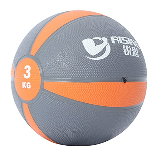 ZXQZ Balones Medicinales, Pelota de Goma para Entrenamiento de Fuerza, Home Fitness Core Workout Ball, 1 Kg / 2 Kg / 3 Kg / 4 Kg / 5 Kg / 6 Kg / 7 Kg / 8 Kg / 9 Kg / 10 Kg (Size : 3kg/6.6lb)