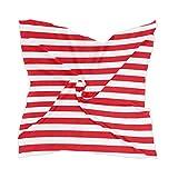 Tocado de gasa Rayas finas de línea blanca roja 4 de julio Dama Pañuelo de seda Pañuelo transparente