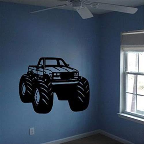 BailongXiao Monster Truck Junge Schlafzimmer Kinder Wandkunst Aufkleber Home Dekoration Vinyl Leben Cartoon Kindergarten Kinderzimmer Wandaufkleber