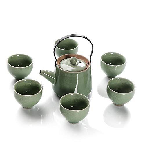 TKLLOVE Juego de té,Juego De Té De Cerámica De Estilo Chino Juego De Té Tetera De Cerámica Teteras Taza Porcelana Taza De Agua Vajilla Hogar Herramientas