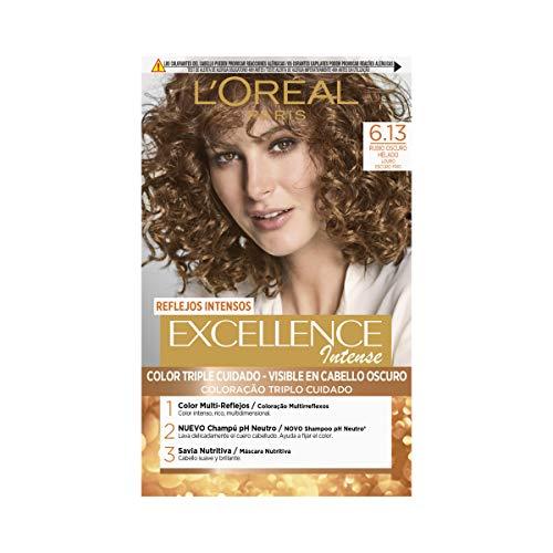 L'Oréal Paris Excellence Intense Coloración, Tono: 6,13 Rubio Helado
