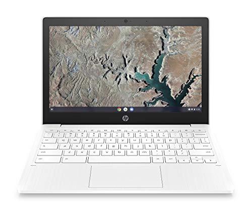 HP Chromebook 11-inch Laptop, Touchscreen, MediaTek MT8183, MediaTek Integrated Graphics, 4 GB RAM, 32 GB eMMC Storage, Chrome (11a-na0050nr, Snow White) (Renewed)