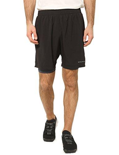 Ultrasport Endurace Weymouth Pantalones Cortos 2 en 1, Hombre, Negro, XS