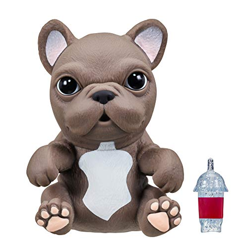OMG Pets - Soft and Squishy Interactive Tactile Puppy Comes to Life, Cries and Eats - French Bulldog