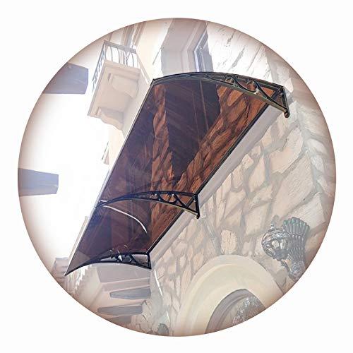 LIANGLIANG Vordach Haustür Überdachung, Selbstreinigung Durch Regen Flammhemmend Luftwiderstand PC-Ausdauerplatine, Benutzt für Eingang Outdoor Ausrüstung Bewachen (Color : Brown, Size : 240x60cm)