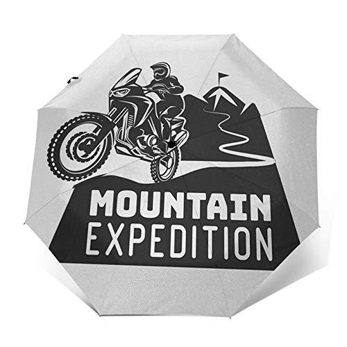 Parapluie Pliant, Parapluie Pliable Automatique Ouverture Et Fermeture Résistant à Tempête Compact Léger Parapluie De Voyage pour Homme Et Femme Vélo Tout-Terrain 37