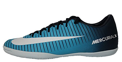 Nike JR MercurialX Victory VI IC Obsidian White Gamma Blue 831947404