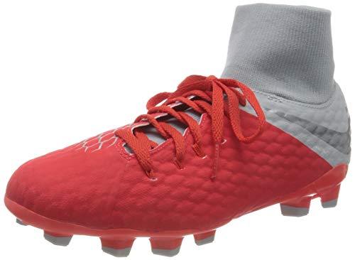 Nike Jr Hypervenom 3 Academy DF FG, Zapatillas de fútbol Sala Unisex Adulto, Multicolor (Lt Crimson/Mtlc Dark Grey-Wolf Grey 600), 36.5 EU