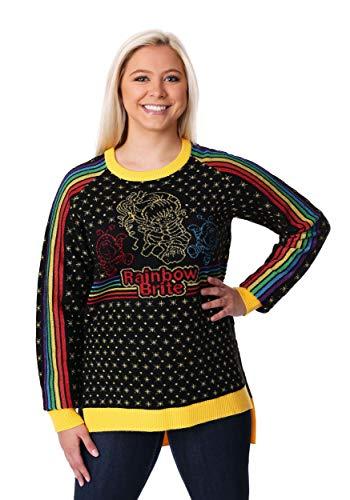 Womens Hi-Lo Rainbow Brite Ugly Christmas Sweater Large