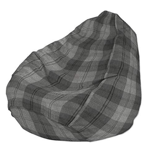 Dekoria Poltrona a sacco Ø80x115 cm nero-grigio