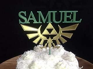Zelda Crest Personalized Cake Topper