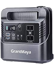 330W Portable Power Station, GrantMaya 288Wh 80000mAh Portable Generator Backup Battery with 110V Pure Sine Wave AC Outlet 60W PD QC3.0 USB Car Socket Flashlight for Camping CPAP Emergency Hurricane