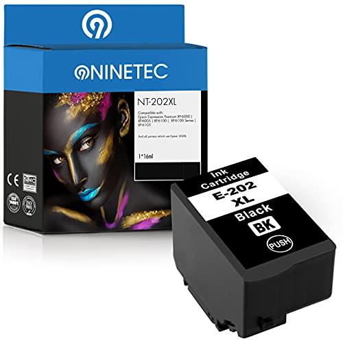 NINETEC NT-202XL 1 cartuccia d'inchiostro compatibile con Epson 202XL 202 XL | Per Expression Home XP-6000 XP-6005 XP-6100 XP-6105 | Black 16ml