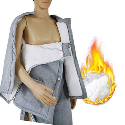 GLJY Krankenpflege-Anzug, Inkontinenz-Pyjamas, Abnutzungsfreundlich, Geeignet für Frakturen, Krämpfe, Langzeitbettruhe, Patienten mit Mobilitätsproblemen,Men,XL