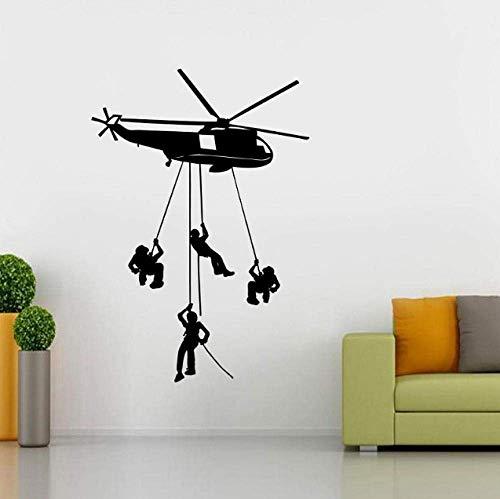 Wandaufkleber Applique Hubschrauber Chopper Armee Aufkleber Kunst Wandbild Schablone Silhouette 42X60 Cm