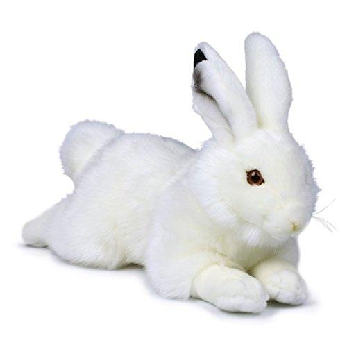 Mimex WWF14779 - pluche, sneeuwhase-liggend, 30 cm
