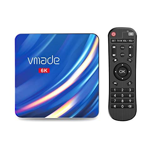 Android TV Box, Vmade X96 MAX Android 10.0 TV Box, 2GB RAM, 16GB ROM, H616 Quad-Core 64bits ARM Cortex-A53@ bis zu 1,5 GHz, unterstützt 2,4G 5G Dual WiFi/6K/BT 5.0/USB 2.0/3D/H.265 Smart TV Box