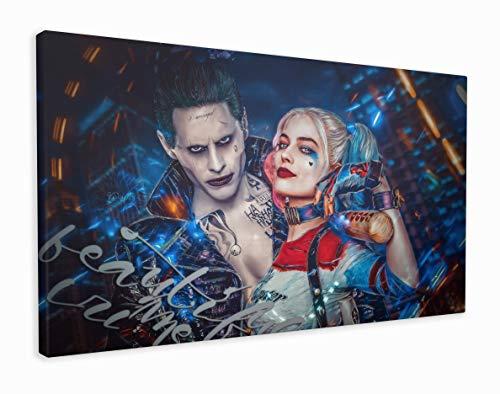 M2M Prints Leinwanddruck Harley Quinn und der Joker, Canvas, Multi, 76x51 cm (30x20 Inches)