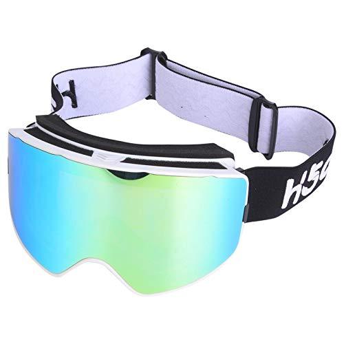 FOLOSAFENAR Gafas antivaho de Doble Capa Anti-Viento para Esquiar y Practicar Deportes al Aire Libre(White Frame Gold)