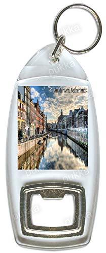 Amsterdam/Nederlands kanaal – Souvenir Fles Opener Sleutelhanger