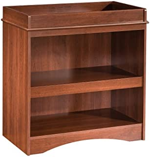 South Shore Peak Changing Table with Open Storage Space, Royal Cherry