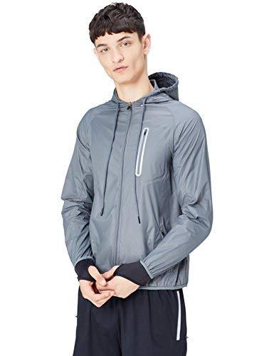 Activewear Cortavientos para Hombre, gris (Dark Grey), Large
