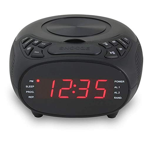 GPX CC318B CD FM Clock Radio
