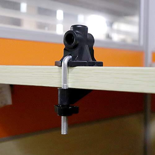OriGlam - Morsetto universale per supporto da tavolo, staffa di ricambio morsetto a C per supporto microfonico/lampada da tavolo scrivania